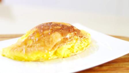 2分钟教你自制网红蛋奶酥蛋卷,做法简单,蓬松柔软,赞不绝口