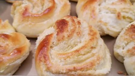 在家自制懒人椰香面包,烘焙小白也能轻松制作
