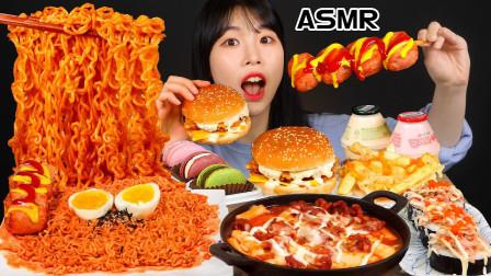 韩国吃货美女便利店大采购,汉堡、炸鸡、火鸡