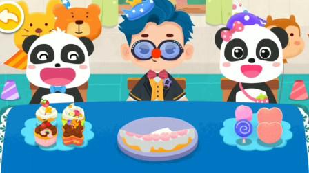 和小朋友一起过生日 送贺卡吃蛋糕~宝宝巴士游戏