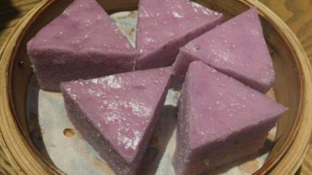 紫薯马拉糕家常做法,松软可口,比蛋糕简单,比馒头发糕好吃