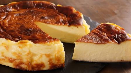 """只需要4种原料、4个步骤!制作超级浓郁的""""巴斯克烤芝士蛋糕"""""""