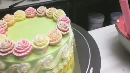 手把手教你制作天竺牡丹,韩式蛋糕裱花这样玩