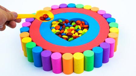 太空沙创意DIY生日蛋糕益智玩具,儿童色彩认知萌宝识颜色啦