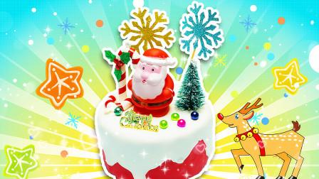 甜品派对蛋糕,圣诞老人的惊喜蛋糕
