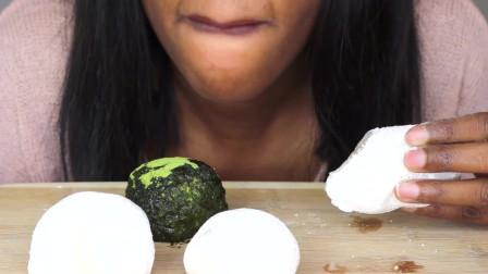 Kamila吃芒果、草莓、抹茶日式水果大福啦好想吃啊