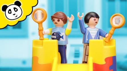 卡通趣味玩具故事:越看越好玩,小正太用魔法放大镜看到了什么?