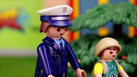 卡通益智玩具故事:越看越搞笑,小正太抓捕小偷遇到了什么意外?