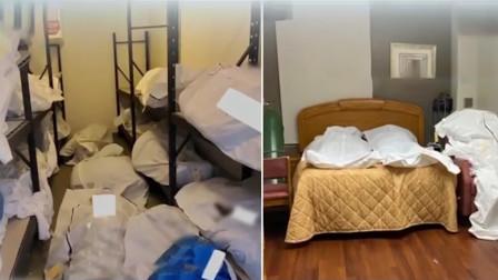 痛心!美国某医院太平间爆满 者被包裹后放在空置房间