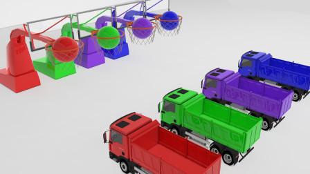 大卡车投篮后都变成了彩色