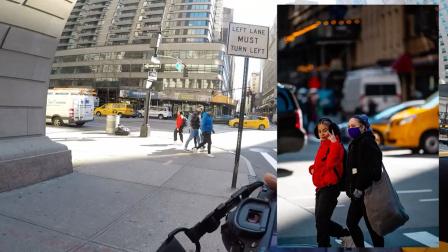 『油管转载』纽约NYC 街拍扫街实录 路人都挺配合呀 氛围真好