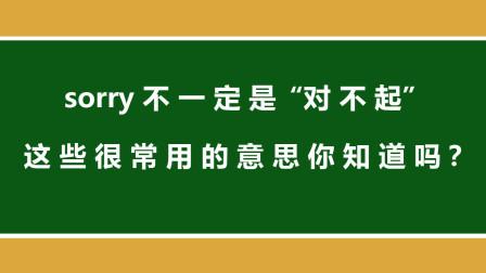 """学英语:sorry不一定是""""对不起"""",这些很常用的意思你知道吗?"""
