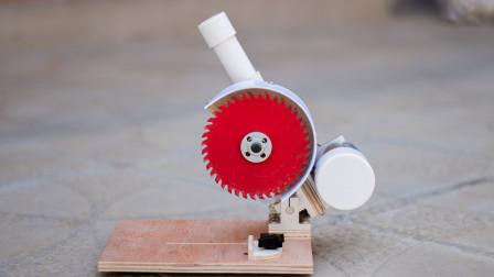 自制一台强力切割机 使用直流895马达