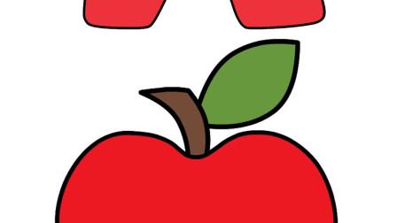 英语字母表A宝宝学英语可爱小苹果Apple简笔画宝宝学画画English Alphabet绘画ABC
