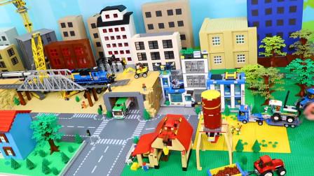 积木益智玩具游戏:太厉害了,乐高积木组装炫酷工程车玩具飞机!
