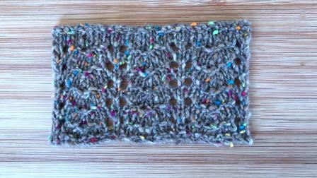 一款春夏针织衫花样的编织方法,简单好看,单色比彩点更大方图解视频