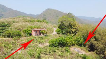 广西玉林深山发现一户人家独居深山,每天与坟墓为伴,你敢住吗?