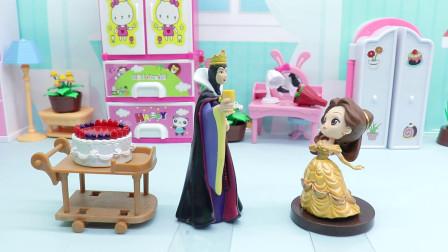斑马玩具 皇后要贝儿买3层蛋糕,可是只剩一层了,谁偷吃了呀?