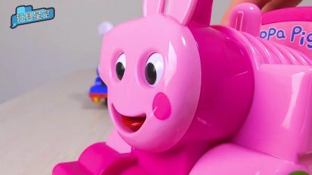调皮的小猪佩奇变成小火车,嘴巴也大了几号,佩奇妈妈都认不出来