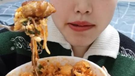 拌饭,鸡肉串串,椰汁西米露