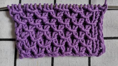 一种单罗纹绞花编织教程,简单易学,适合编织各种外套开衫毛衣图解视频