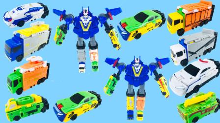 超酷超好玩的变形双面金刚六合体系列玩具!等着你来玩哟!