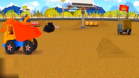 组装大脚赛车学习数数字,看看您的宝宝认识几个,动画