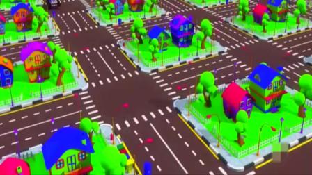 组装大脚越野车,机械师快来学习,3D亲子动画