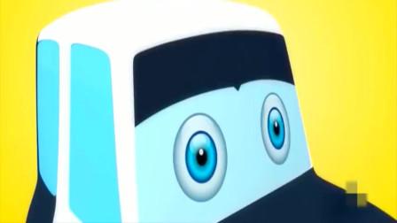 组装大眼警车,干的漂亮,亲子动画
