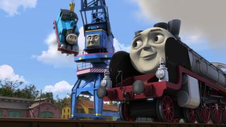 托马斯和朋友大电影之冲出多多岛:詹姆斯被飓风带到了炼钢厂,托马斯要去救他