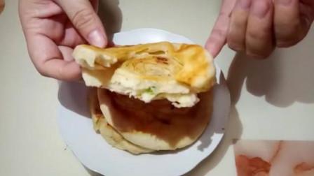 家常发面饼的秘制做法,2分钟学会,暄软又蓬松,吃了还想吃