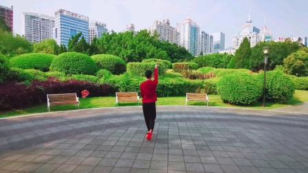 福州周周广场舞【我在春天等你】背面编舞雨夜