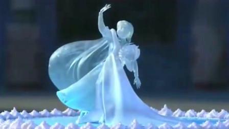 冰雪奇缘:艾沙为安娜做生日蛋糕,蛋糕上的图案怎么做都不满意!
