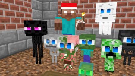 我的世界动画-怪物幼儿园-地窖迷宫-LoveMeMinecraft