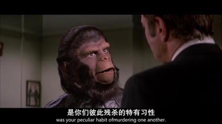 男子说猩猩和猴子是同种类,可猩球人就不服了,马上对着他就是一顿训