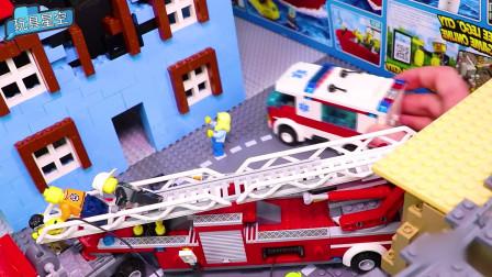 超大儿童云梯消防车玩具消防员玩具车可喷水大号洒水救援车