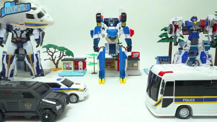 神兽星甲王烈欲蓝海变形金刚大战汽车超人变形车