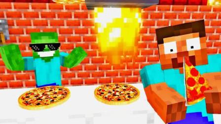 MC怪物学校《him披萨店》,披萨太美味,怪物学校全员改行做披萨