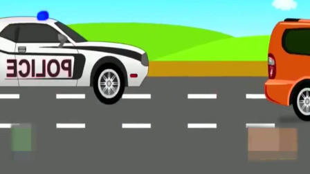 组装警车抓坏蛋,哪也跑不了,亲子动画