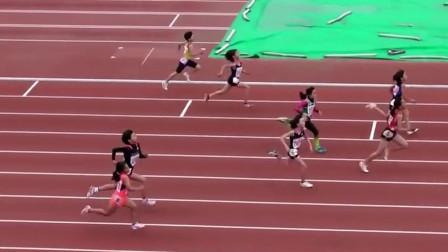 日本小学女生百米比赛,最后的绝有点厉害