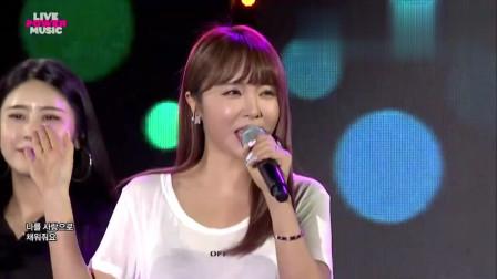 韩国美女洪真英现场演唱《爱情的电池》,微胖身材太迷人!