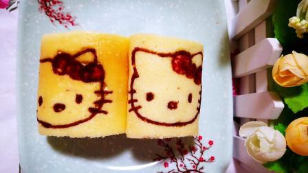 用果蔬粉做个漂亮的彩绘蛋糕卷,给宝宝当零食,好看又营养