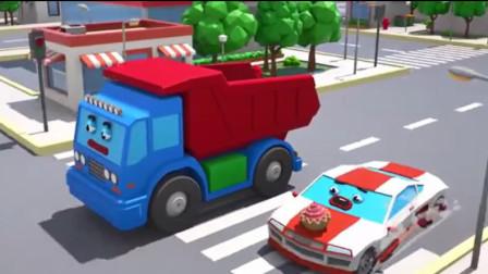 汽车玩具视频:小跑车真大胆抢了警车的杯子蛋糕