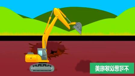 组装挖掘机清理路面的障碍物!