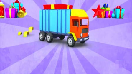 组装箱式货车,机械师快来学习,3D亲子动画