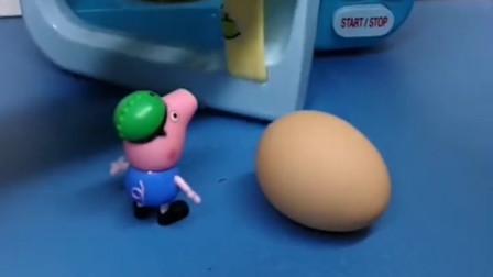 乔治在家里烤鸡蛋,是用微波炉烤的,猪妈妈说不能用微波炉烤鸡蛋知道为什么吗?