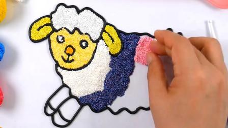 儿童雪花彩泥粘土DIY手工制作视频教程大全 小绵羊
