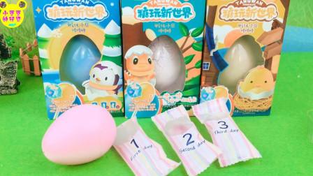 糖玩新世界趣味手工DIY!果宝特攻孵化火烈鸟玩具蛋