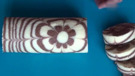 花式蛋糕卷是这样做的,看完制作过程,你还会觉得难吗?