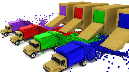 垃圾运输车穿过神秘大门后变成了彩色